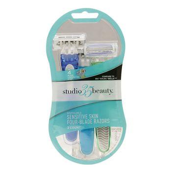 Studio 35 Beauty 4 Blade Disposable Razors, 3 ea