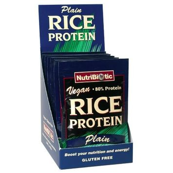 Nutribiotic Rice Protein Packets, Plain, 12 count