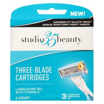 Studio 35 Women Fit 3-Blade Cartridges - 4 ea