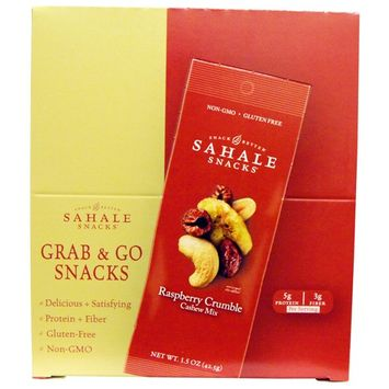 Sahale Snacks, Raspberry Crumble Cashew Mix, 9 Packs, 1.5 oz (42.5 g) Each