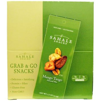 Sahale Snacks, Mango Tango Almond Mix, 9 Packs, 1.5 oz (42.5 g) Each [Flavor : Mango Tango]