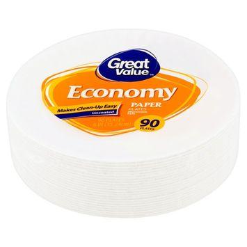 Great Value Economy Paper Plates, 90 count [multipack_quantity: multipack_quantity-1]