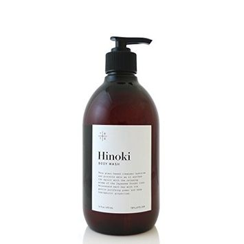 HINOKI BODY WASH made with organic ingredients by te+te 16 fl.oz.