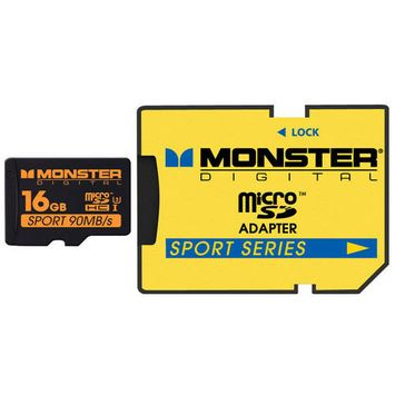 Monster Cable 16GB SDHC Micro Card Sport90