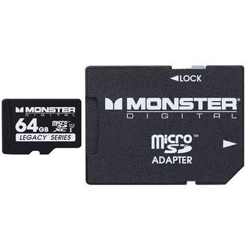 Monster Cable 64GB SDHC Micro SD Memory Card