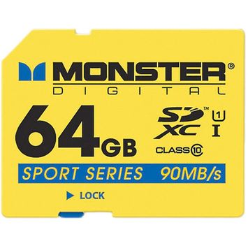 Monster Cable 64GB SXHC FS SD Card Sport90