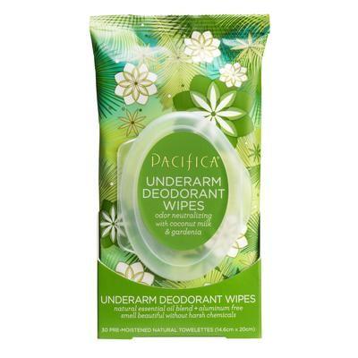 Pacifica Coconut Milk & Gardenia Underarm Deodorant Wipes