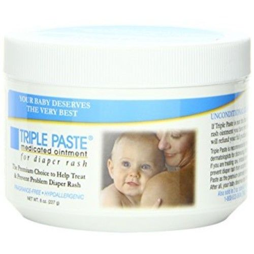 Triple Paste Medicated Ointment for Diaper Rash, 8-Ounce - Pack of 2