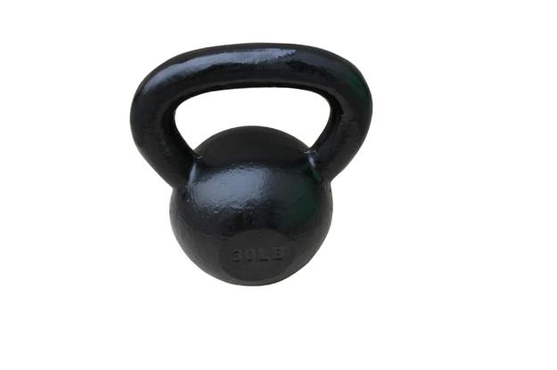 Sunny Health & Fitness Black Kettle Bell-30LB