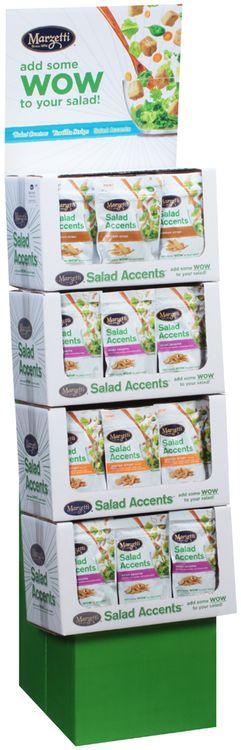 Marzetti® Asian Sesame/Orange Ginger/Wonton Strips Salad Accents® 48 ct Corrugated Display