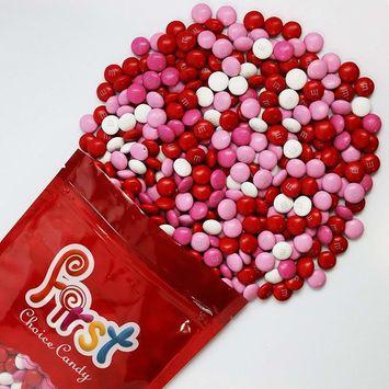 m&m Valentine Mix Milk Chocolate Candy 1 Pound Resealable Gift Bag [Valentine Mix]