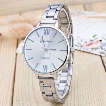 DZT1968® Fashion Women Crystal Stainless Steel Analog Quartz Wrist Watch
