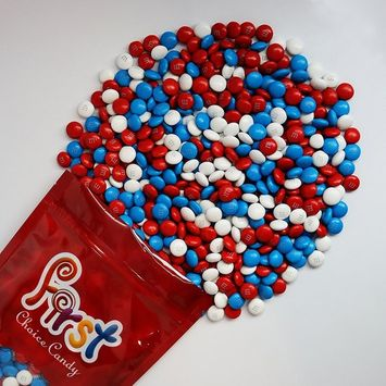 m&m American Spirit Patriotic Milk Chocolate Candy 1 Pound Resealable Pouch Bag