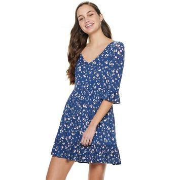 Juniors' American Rag V-Neck Dress