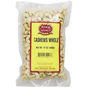 Spicy World Cashews Whole, 14 Ounce Pouch