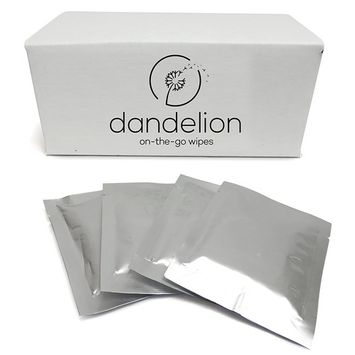 Dandelion Cup On-The-Go Menstrual Cup Wipes, Individually Wrapped All Natural Unscented Menstrual Cup Cleaner - 40 Pack - Compare To Lunette Wipes