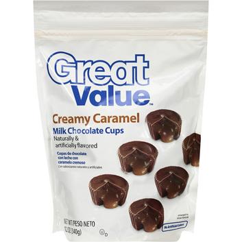 Great Value Creamy Caramel Milk Chocolate Cups