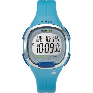Timex - Timex Women's Ironman Transit 33mm Mid-Size Teal Resin Strap Watch TW5M19500