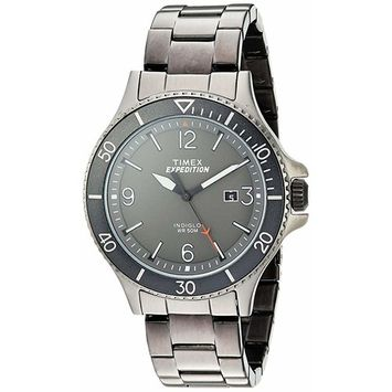 Timex - Men's Expedition Ranger Gray Watch, Stainless Steel Bracelet
