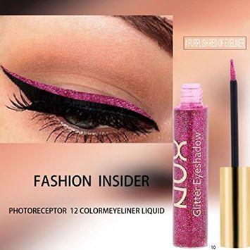 Metallic Eyeliner, Alonea Metallic Shiny Smoky Eyes Eyeshadow Waterproof Glitter Liquid Eyeliner