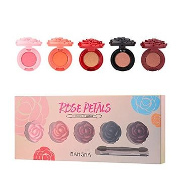 Alonea 5 Color Eyeshadow Glitter Pigment Rose Eye Shadow Shimmer Makeup