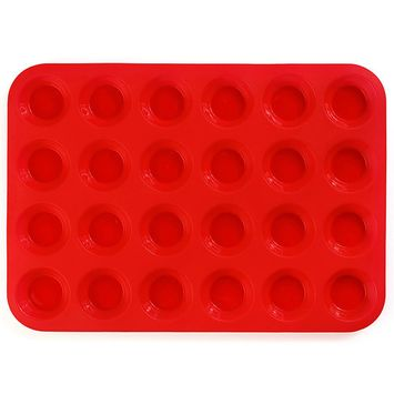 24 Circles Cake Mold DIY Baking Tool Die Non-stick Silicone Pastry Biscuit Mooncake Mould Cooking Model