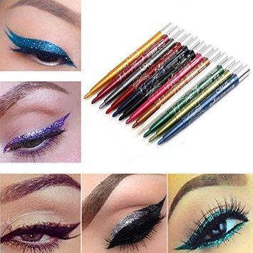 Alonea 12 Colors Long-lasting Eye Shadow Eyeliner Lip Liner Pen Makeup Beauty