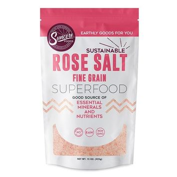 Suncore Foods - Premium Quality Fine Rose Salt (Andean) - 15 oz Resealable Pouch