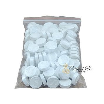 Disposable Mini Portable DIY Beauty Skin Care Travel Cotton Sheet Compressed Facial Mask - Pack of 100 - White