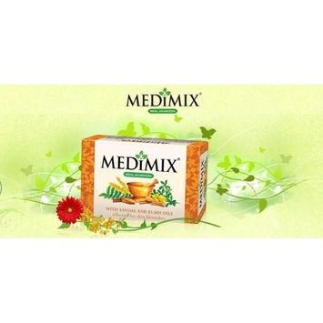 Medimix Herbal Handmade Ayurvedic Soap with Sandal with Eladi Oil for Blemish-Free Skin (125 g)