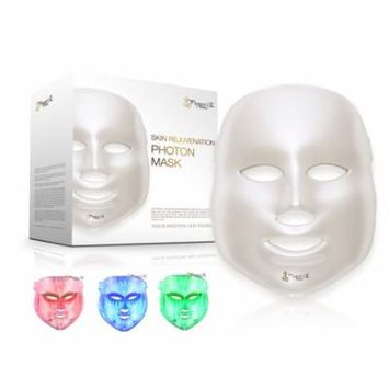LED Photon Therapy Red Blue Green Light Treatment Facial Beauty Skin Care Mask