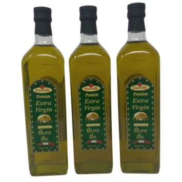 Forrelli Premium Cold Pressed Extra Virgin Olive Oil 34 fl. oz. (3 Pack)