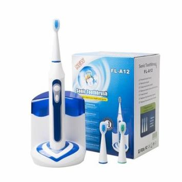 CUH Electric Toothbrushes UV Sanitizer IPX7 Waterproof 5 Clean Modes Timing Electric Power Display