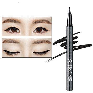 Alonea Eye Liner, Women Eye Liner Eyeliner Quick Make Up Eyeliner Pen Waterproof Black