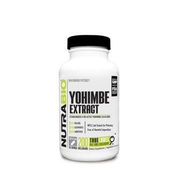 Yohimbe Extract by NutraBio - 120 Capsules