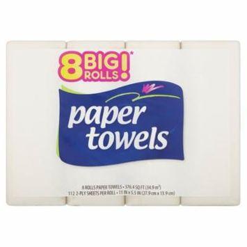 Great Value Paper Towels, 8 Big Rolls