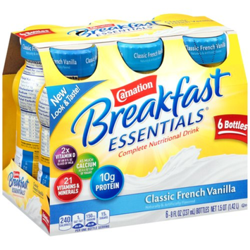 Carnation Breakfast Essentials Ready To Drink, Classic French Vanilla, Vanilla