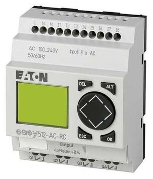 EATON EASY512-AC-RC Programmable Relay, 110/240V