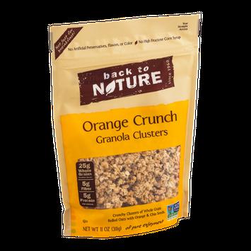 Back to Nature Clusters Orange Crunch Granola