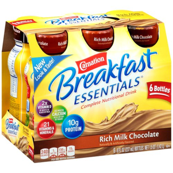Carnation Breakfast Essentials Ready To Drink, Rich Milk Chocolate, Chocolate