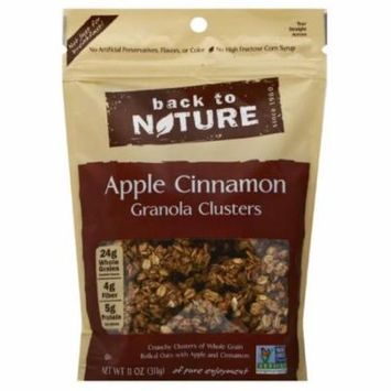 Back To Nature Apple Cinnamon Clusters Granola, 11 Oz (Pack of 6)