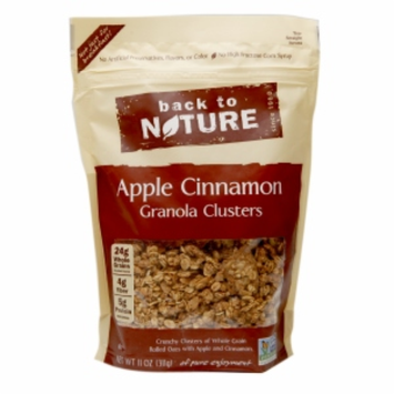 Back To Nature Granola Clusters Apple Cinnamon 11 Package