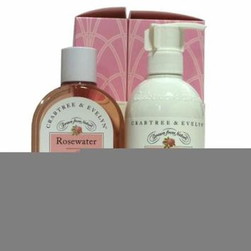 Crabtree & Evelyn Rosewater Duo Shower Gel and Body Lotion 2 8.5 oz