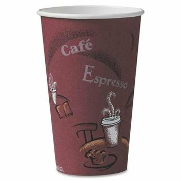 SOLO CUP COMPANY 16BI0041 Paper Hot Cup 16 oz. 300/CT Maroon
