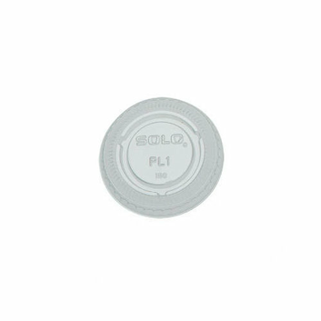 Solo Cups No-Slot Plastic Lid Fits 0.75-1.5oz Cups in Clear