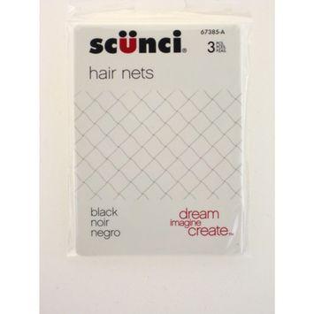 Scunci Black Hair Nets - 3 Pcs.
