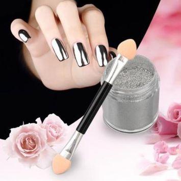 Silver 1 Box 10g Mirror Glitter Powder Nail Art Pigment Glitters Chrome Manicure