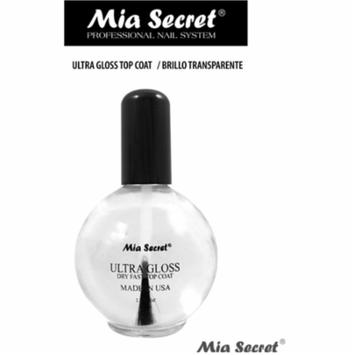*LAWholesaleStore* Ultra Gloss Clear Top Coat by Mia Secret *Extra Shine* 2.5 Oz Nail Profession