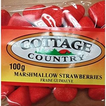 Cottage Country Marshmallow Strawberries 100g (Imported from Canada)