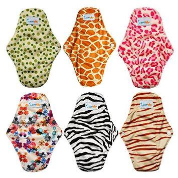 Love My Antibacterial Bamboo fiber Mama Cloth/ Menstrual Pads/ Reusable/ Panty Liners - 6pcs pack